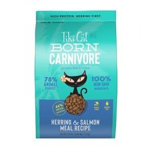 乾糧 Tiki Cat Born Carnivore (Herring & Salmon Meal Recipe) 高蛋白貓糧(希靈魚+三文魚) 寵物用品店推薦