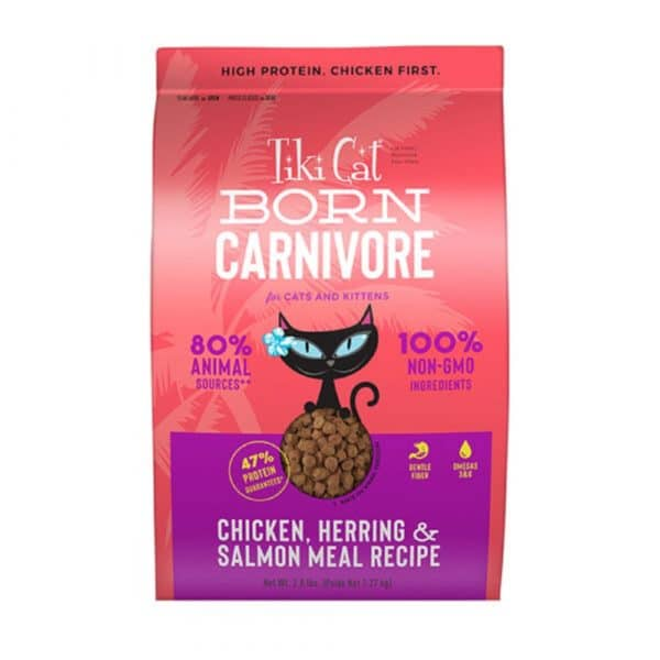 乾糧 Tiki Cat Born Carnivore (Chicken, Herring & Salmon Meal Recipe) 高蛋白貓糧(雞肉+希靈魚+三文魚) 寵物用品店推薦