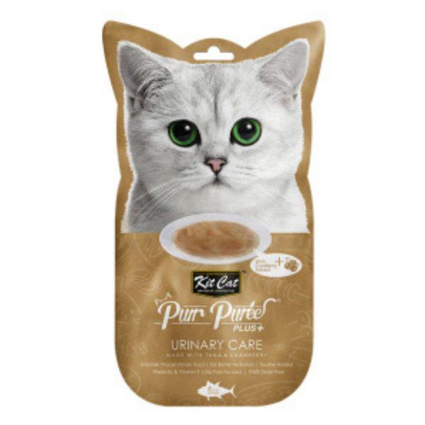 小食 Kit Cat Purr Puree Plus 尿道護理 養生吞拿魚肉醬 60g 寵物用品店推薦