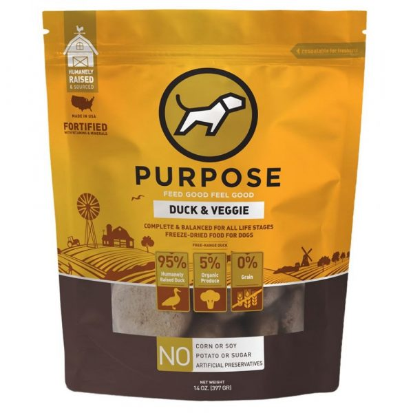 凍乾糧 Purpose 凍乾脫水生肉 狗主糧 (鴨肉) 14oz 寵物用品店推薦