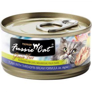罐頭食品 高竇貓 Fussie Cat Premium Black Label Cat Canned (Tuna with Threadfin) 黑鑽貓罐頭(吞拿魚+鯛魚)80g 寵物用品店推薦