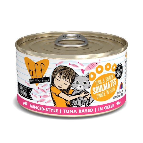 罐頭食品 Weruva B.F.F. 喵友系列 野生吞拿魚、三文魚 貓罐頭 (橙罐) 寵物用品店推薦