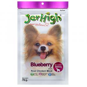 小食 Jerhigh 高蛋白低脂狗小食 藍莓雞肉條 70g 寵物用品店推薦