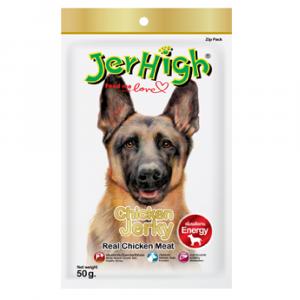 小食 Jerhigh 高蛋白低脂狗小食 雞胸塊 50g 寵物用品店推薦
