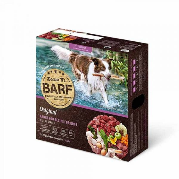 急凍糧食 Dr. B 急凍狗糧 – 袋鼠肉蔬菜 (12片) 寵物用品店推薦