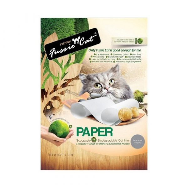 貓用產品 高竇貓 Fussie Cat Premium Paper Litter 紙貓砂 7L 寵物用品店推薦