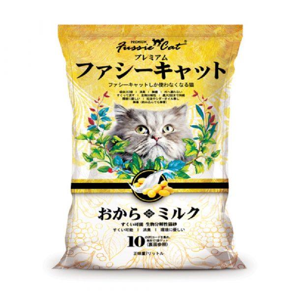 貓用產品 高竇貓 Fussie Cat Premium Soybean Litter (Milk) 豆腐貓砂(牛奶味)7L 寵物用品店推薦