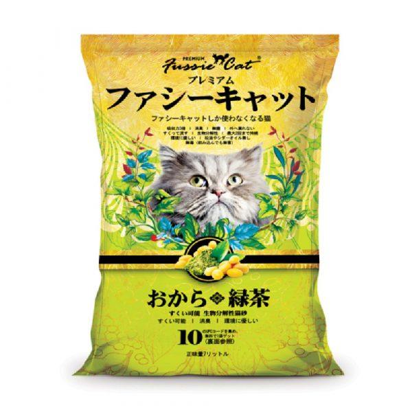 貓用產品 高竇貓 Fussie Cat Premium Soybean Litter (Green Tea) 豆腐貓砂(綠茶味)7L 寵物用品店推薦