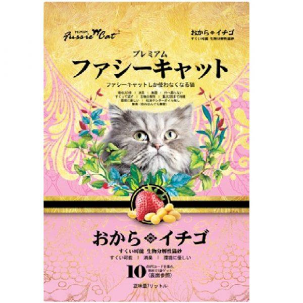 貓用產品 高竇貓 Fussie Cat Premium Soybean Litter (Strawberry) 豆腐貓砂(草莓味)7L 寵物用品店推薦