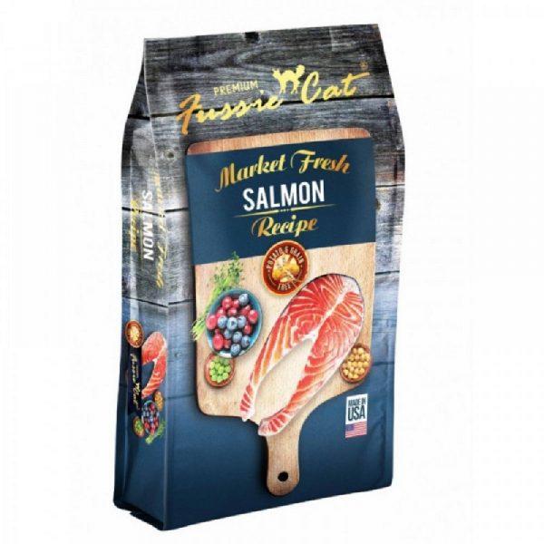 乾糧 高竇貓 Fussie Cat Premium Market Fresh Salmon & Recipe 無穀物 三文魚配方 寵物用品店推薦