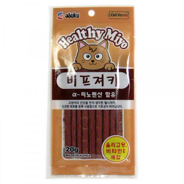 小食 Asuku Healthy Miyo 魚肉條(牛肉)20g 寵物用品店推薦