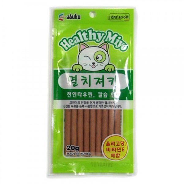 小食 Asuku Healthy Miyo 魚肉條(鯷魚)20g 寵物用品店推薦
