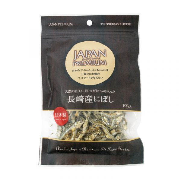 小食 Asuku JP Dried Anchovy Made in Nagasaki 長崎DHA+EPA鯷魚 100g 寵物用品店推薦