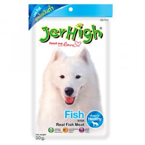 小食 Jerhigh 高蛋白低脂狗小食 魚肉條 50g 寵物用品店推薦