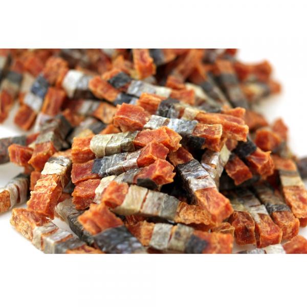 小食 Salmon4pets 三文魚皮卷方棒 70g 寵物用品店推薦