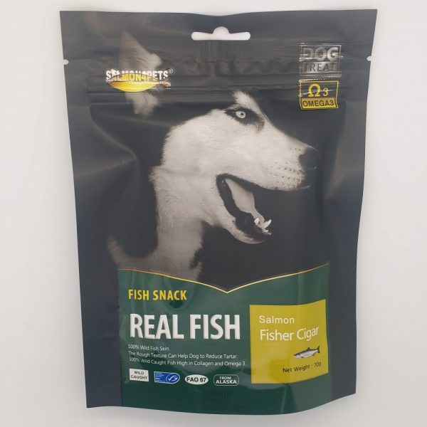 小食 Salmon4pets 犬用魚雪茄小食 65g 寵物用品店推薦