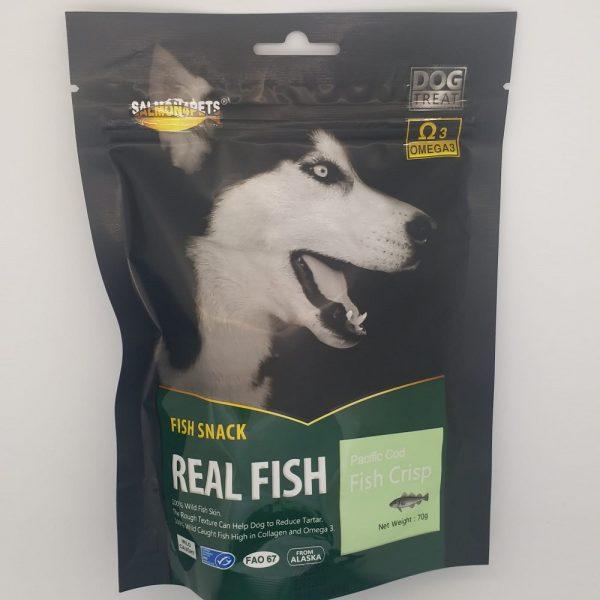 小食 Salmon4pets 魚皮方塊 70g 寵物用品店推薦