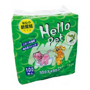 床墊 Hello Pet 尺半寵物尿墊 300mm x 450mm (100片) 寵物用品店推薦
