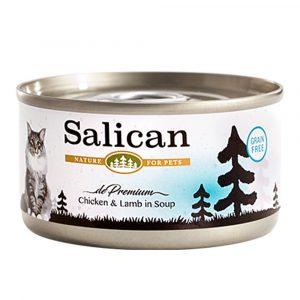 罐頭食品 Salican 鮮雞肉、羊肉配方貓罐頭 (清湯) 85g 寵物用品店推薦