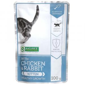即食湯包 Nature's Protection 貓隻主食袋裝濕糧 (雞+兔) 100g 寵物用品店推薦