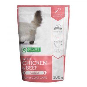 即食湯包 Nature's Protection 貓隻主食袋裝濕糧 (雞+牛肉) 100g 寵物用品店推薦