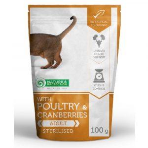 即食湯包 Nature's Protection 貓隻主食袋裝濕糧 (雞+蔓越莓) 100g 寵物用品店推薦
