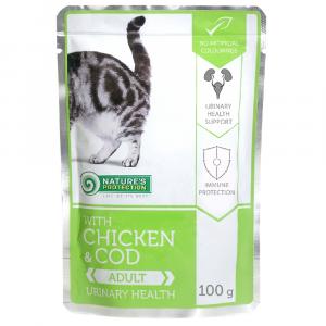 即食湯包 Nature's Protection 貓隻主食袋裝濕糧 (雞+鱈魚) 100g 寵物用品店推薦