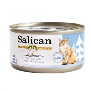 罐頭食品 Salican 海洋魚貓罐頭 (肉汁) 85g 寵物用品店推薦