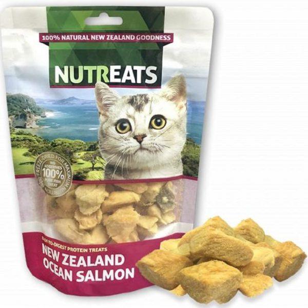 小食 Nutreats 紐西蘭凍乾三文魚肉 (貓用) 50g 寵物用品店推薦