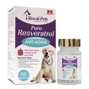 狗用產品 Royal-Pets 純正白藜蘆醇 60粒膠囊 寵物用品店推薦