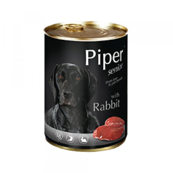 狗用糧食 Dolina Noteci 黑鑽愛犬罐頭 Piper Premium (老年犬) 兔肉 400g 寵物用品店推薦