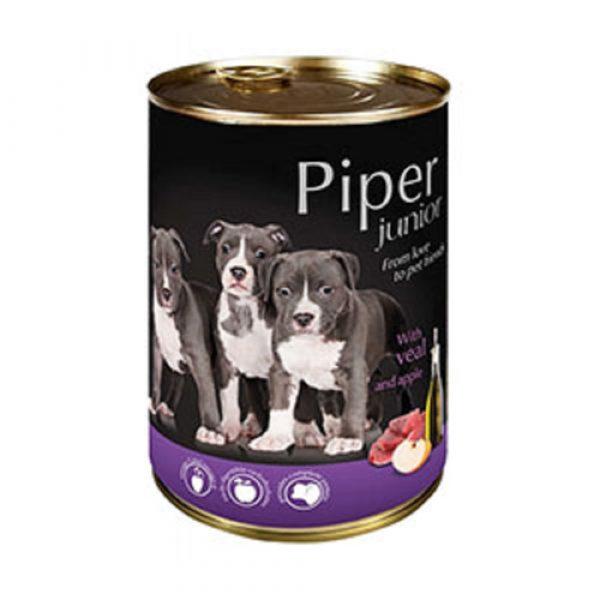 狗用糧食 Dolina Noteci 黑鑽愛犬罐頭 Piper Premium (幼犬) 牛仔肉+蘋果 400g 寵物用品店推薦