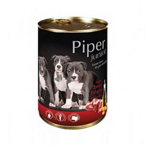 狗用糧食 Dolina Noteci 黑鑽愛犬罐頭 Piper Premium (幼犬) 牛心+甘荀 400g 寵物用品店推薦