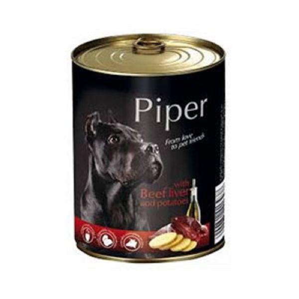 狗用糧食 Dolina Noteci 黑鑽愛犬罐頭 Piper Premium (成犬) 牛肝+馬鈴薯 400g 寵物用品店推薦