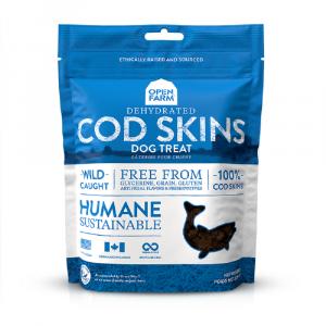 小食 Open Farm 阿拉斯加冷凍脫水鱈魚皮小食 2.25oz 寵物用品店推薦