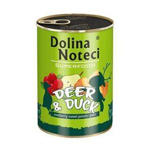 狗用糧食 Dolina Noteci 超級愛犬罐頭 Superfood Dog (鹿+鴨) 寵物用品店推薦