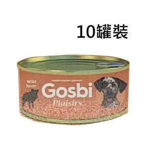 狗用糧食 Gosbi 狗罐頭 185g x 10罐裝 寵物用品店推薦