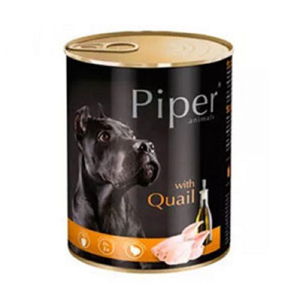 狗用糧食 Dolina Noteci 黑鑽愛犬罐頭 Piper Premium (成犬) 鵪鶉 寵物用品店推薦