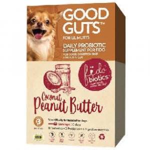 狗用產品 Fidobiotics 椰子花生消化排氣粉 30日份量 30億益生菌 小型犬適用 寵物用品店推薦