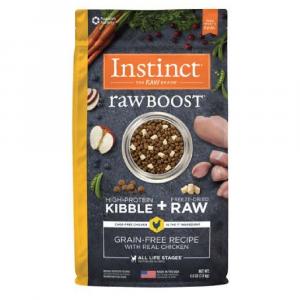 乾糧 Instinct 無穀物 + 凍乾生肉粒 – 全犬 (雞) 寵物用品店推薦