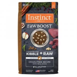 乾糧 Instinct 無穀物 + 凍乾生肉粒 – 全犬 (鴨) 寵物用品店推薦