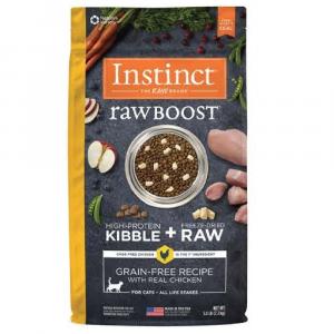 乾糧 Instinct 無穀物 + 凍乾生肉粒 – 全貓 (雞) 寵物用品店推薦
