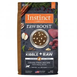 乾糧 Instinct 無穀物 + 凍乾生肉粒 – 全貓 (鴨) 4.5lbs 寵物用品店推薦