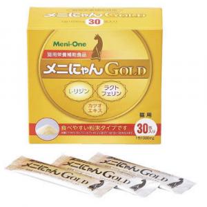 傷口護理 Meni-One 乳鐵蛋白賴氨酸補充劑 GOLD (鰹魚精華) 貓用 30支 寵物用品店推薦